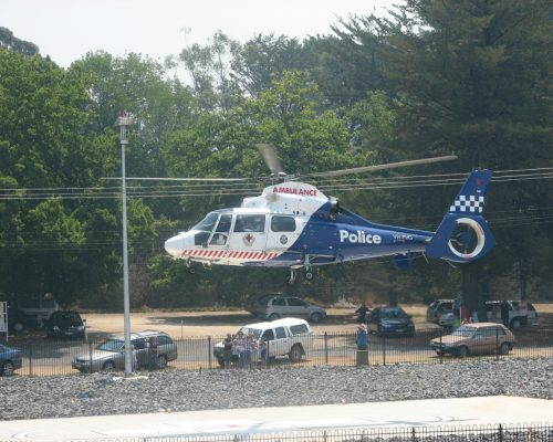 Helipad Pickup - Police Air Wing